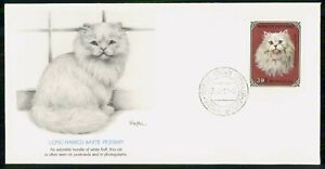 Mayfairstamps Mongolia FDC Long Haired White Persian Cat First Day Cover wwk_594