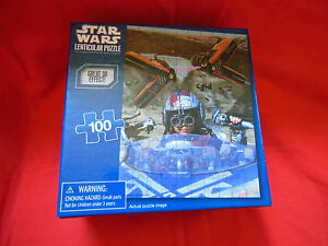 NEW FACTORY SEALED 3D IMAGE STAR WARS LENTICULAR JIGSAW PUZZLE 100 PC