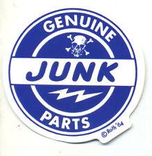 genuine junk parts sticker Ed big daddy Roth hot rod drag race motorcycle biker