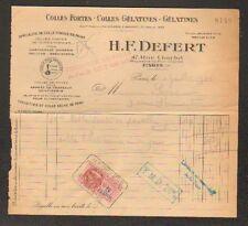 """PARIS (III°) USINE de COLLES & GELATINES """"H.-F. DEFERT"""" en 1948"""