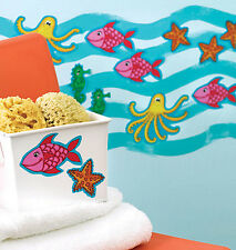 Fish Starfish Seahorse Octopus Sea Creatures KP Kids Stickers Decals 25 Wallies