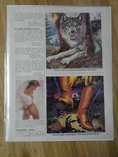 1982 Print Ad Nocona Cowboy Boots ~ Gray Wolf & Tarantula Spider Western Art