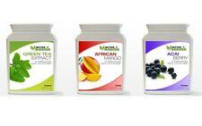 60 Estratto di Tè verde 60 bacche Acai 60 Mango africano dieta perdita peso CONFEZIONE BOTTIGLIA