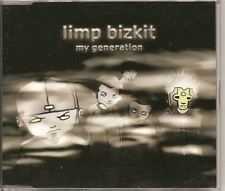 LIMP BIZKIT My Generation 4 track GERMANY CD EP w video THE WHO