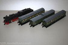Fleischmann 4165 Dampflok Baureihe 38 3440 DR mit 3 Personenzugwagen Spur H0
