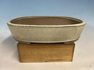 "Large Cream Glazed Tokoname Ikkou Bonsai Tree Pot 14 5/8"""