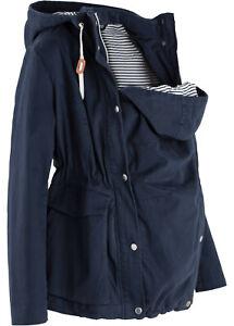 bpc Umstandsjacke Schwangerschaftsjacke mit Babyeinsatz Gr. 38 blau