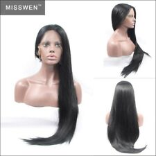 "24"" Silky Straight Lace Front Wig Synthetic Hair Heat Resistant 130% Density"