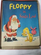 1957 Floppy In Santaland By J. O'Hara In Orig Box Pop-Ups Paints Spiral Bound