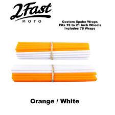 2FastMoto Spoke Wrap Kit Orange White Covers Wraps Skinz Custom Spokes Bultaco