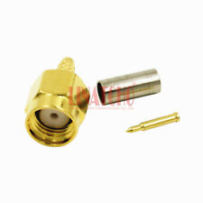 50 pcs in bulk sales g316 lmr100 rf golden sma male connector for rg174 cable