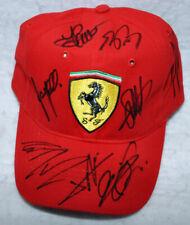 Ferrari Cap Signed by 10 Formula 1 F1 Driver Vettel Leclerc Niki Lauda Prost