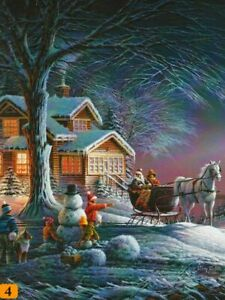 """Terry Redlin """"WINTER WONDERLAND"""" Christmas 300 Pieces BOXLESS Jigsaw Puzzle *NEW"""