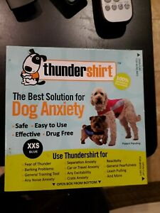 THUNDERSHIRT for Dogs RELIEVES STRESS & ANXIETY BLUE XXS Brand new