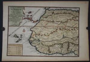 CANARY ISLANDS WESTERN AFRICA CAPE VERDE ISLANDS 1705 DE FER UNUSUAL ANTIQUE MAP