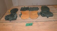 New listing 3 pair Us Army leather nylon mitten shell L Large trigger finger hunting Nos