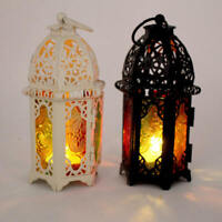 For Moroccan Style Iron Candle Holder Lantern Tealight Candlestick Wedding Decor