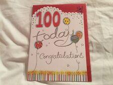 100th tarjeta de cumpleaños centenario Unisex. Nueva.
