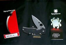 Spyderco Native 5 Knife C41GP5 Nitrogen Hardened CPMS35V Blade W/Package,Papers