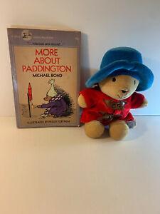 Paddingon Eden plush toy PLUS More About Paddington vintage book by Michael Bond