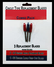 Replacement Combo Pack Includes 3 Blades for Craft Cutting Machines compatible w