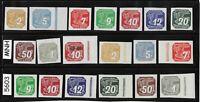 #5603 Complete MNH stamp set / Newspaper WWII Third Reich Occupation 1939 & 1943