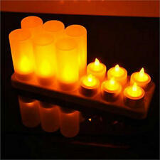 Set of 12 Remote controlled rechargeable tealight candle lamp Wedding home decor