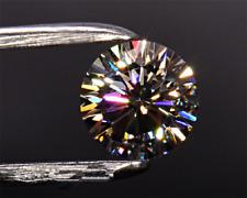 Unheated 8mm 3.5CT White Round Sapphire AAAAA Brilliant Loose Gemstones