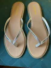 🌻Simply Be Gold Flip Flop Toe Post Extra Wide Fit Uk 8 EEE EU 41 🌻