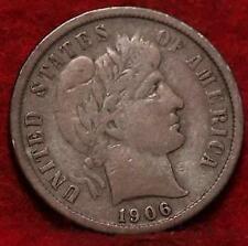1906-D Denver Mint Silver Barber Dime