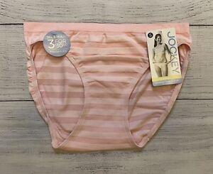 NWT Jockey Women's Matte & Shine Bikini Panty Size 5