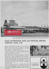 B.W.I.A. VICKERS VISCOUNT AT PIARCO INTERNATIONAL AIRPORT 1964 AIRWORK AD