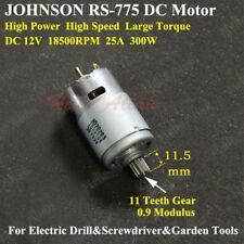 JOHNSON RS-775 Electric DC 12V Motor 11 Teeth Gear High Speed Large Torque 300W
