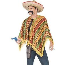 Male Adult Poncho Mexican Instant Kit Smiffys Fancy Dress Costume - One Size