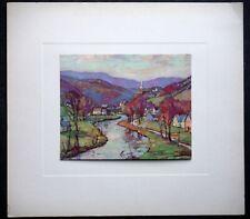 Vintage Aldro T Hibbard Print, Listed Rockport MA Artist A T NH or VT Landscape