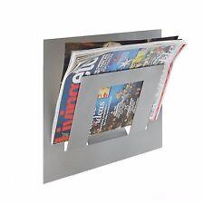 Designer Singolo Argento Parete GIORNALE Magazine Rack dalla casa in metallo