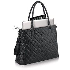 "Solo Classic Collection 15.6"" Laptop Tote Handbag Briefcase CLA852 - Black"