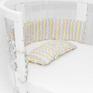 Amani Bebe Cot Bumper & Pillow Set