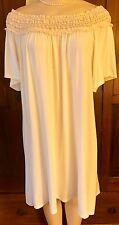 WOMENS PLUS DRESS 1X IVORY TUNIC NEW 14 16 XL LACE OFF SHOULDER NWT SUMMER DEAL