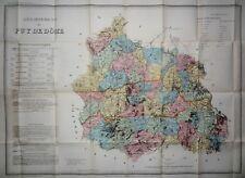 Carte Département du Puy de Dôme dressée par A. H. Dufour ca 1865