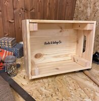 Rustic & Vintage Pine Wood Crate Box Storage