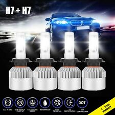 4x H7 H7 3830W 574500Lm Combo Led Headlight High Low Beam Bulbs 6000K White