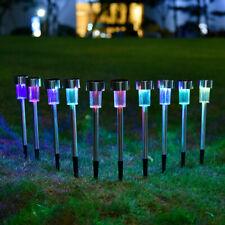 12pk Solar Light Pathway Outdoor Garden Stake Walkway LED Lighting Multi-Color