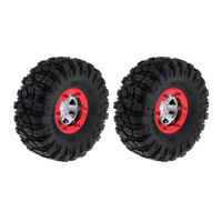 2Pcs 100mm Rubber Tires Tyres 12mm Wheel Hex for 1/12th 12428 RC Truck Buggy