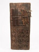 ANTIQUE AFRICAN CARVED WOODEN THUMB HARP 19TH C.