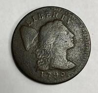1796  Large Cent 1C Fine      VERY RARE this 1796