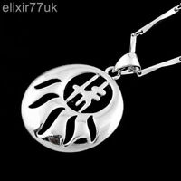 NEW SILVER NECKLACE CHAIN PENDANT SET GIFT STATEMENT JEWELLERY STERLING SOLID UK