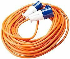 Orange 5 Metre 230v Caravan Camping Electric Hook Up Extension Mains Cable Lead