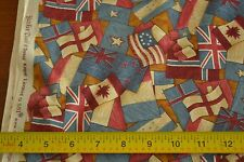 "By-the-Half-Yard, 44"" Wide, Patriotic Theme on Quilter's Cotton, RJR/Kogut M4238"
