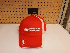 New red & white Child's Kid's Scuderia Ferrari factory Ball cap Official hat